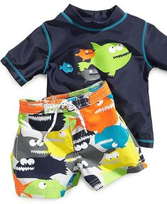 2fd84f4af8982 Carter's Baby Set, Baby Boys Newborn Fish Rash Guard and Swim Shorts &  Reviews - Kids - Macy's
