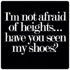Though, it's not entirely true...I hate ladders!  And stairs with no railings!!! lol