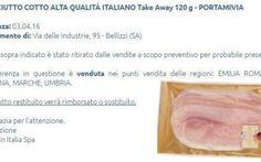 """La Eurospin Italia ritira prosciutto cotto: """"Contaminato da batteri"""" attenzione se lo av Prosciutto cotto alta qualità italiano registra il marchio Portamivia ma è altamente tossico. eurospin ritiro prodotto dal mercato"""