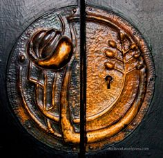 Door lock by Charles Rennie Mackintosh - House For An Art Lover - Glasgow