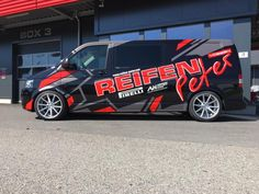 VW T5 FL wrap branding project for Reifen Peter