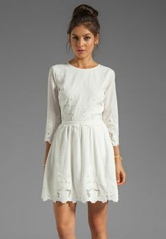 DV by DOLCE VITA Val Sunflower Lace Dress in Frost - Dresses