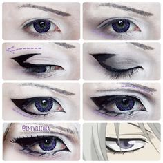 Tomoe Makeup Tutorial Lenses from Requested by I am… - COSPLAY IS BAEEE! Tap the pin now to grab yourself some BAE Cosplay leggings and shirts! From super hero fitness leggings, super hero fitness shirts, and so much more that wil make you say YASSS! Anime Eye Makeup, Anime Cosplay Makeup, Mac Makeup, Makeup Hacks, Beauty Makeup, Makeup Eyeshadow, Anime Makeup Tutorial, Cosplay Makeup Tutorial, Maquillage Cosplay Anime