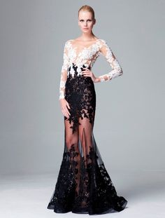 Zuhair Murad Pre-Fall 2014 - love the mix of black & white.