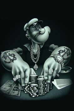 Gangster Popeye | iPhone Wallpapers I Like | Pinterest | Gangsters