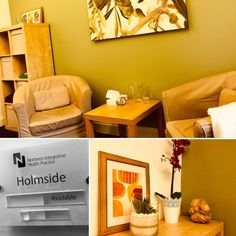 Our fab therapy rooms are named after Durham towns. Introducing 'Holmside' therapy room which is perfectly suited to counselling, psychotherapy and other talking therapies. Rooms can be hired on an ad-hoc or regular basis with flexible terms.