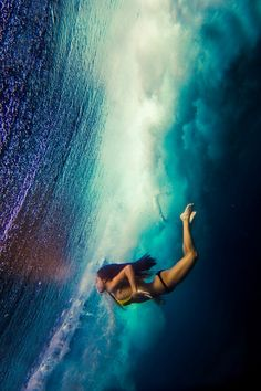 swimming below the waves
