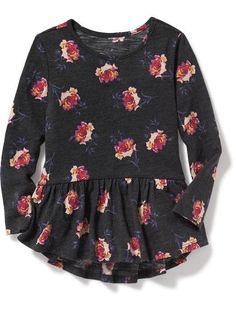 floral peplum-hem tunic for toddler at Old Navy