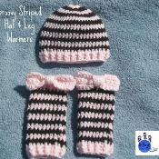 Groovy Striped Hat & Leg Warmers - via @Craftsy