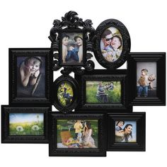 Melannco Embellished 9-Opening Collage Frame ($52) ❤ liked on Polyvore featuring home, home decor, frames, black, borders, picture frame, black home decor, black picture frames, black plastic picture frames and plastic frames