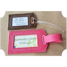 In The Hoop :: Luggage Tags :: Luggage Tags Set - Embroidery Garden In the Hoop Machine Embroidery Designs