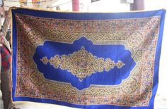 Very pretty electric blue persian rug