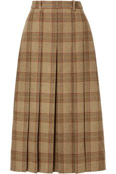 Brown cotton-gabardine Slips on cotton Dry clean Made in Italy Cotton Maxi Skirts, Ancient Greek Sandals, Matching Shirts, Top Designer Brands, Printed Cotton, Wool Blend, Fashion Online, Midi Skirt, Fendi