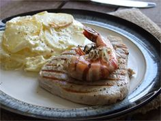 Surf and Turf with Gratin Dauphinois Potatoes recipe