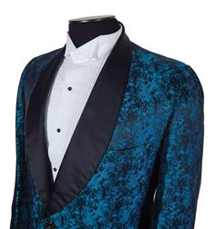 Mens Vintage 1960s Tuxedo Jacket. Peacock Blue by EndlessAlley, $155.00