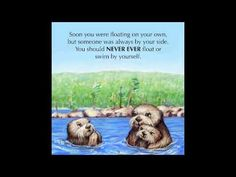 """Josh the Baby Otter"" read aloud  book about swimming safety"
