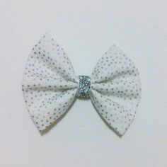 Silver Sparkles bow by ByrdieNestDesigns on Etsy