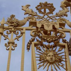 """Versailles...the front gates.Nope,no ego problems here (much ).Self proclaimed """"Sun King """" Louis 14th"""