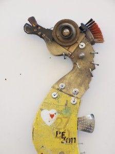 Stefano Pilato - cavalluccio piano americano #seahorse #art #found #assemblage: