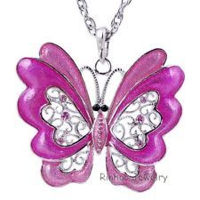 Unique Jewelry - Fashion Sweater Butterfly Crystal Pendant Necklace Jewelry Charm Party Women new
