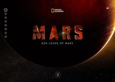 An digital experience for National Geographic's planet MARS project.