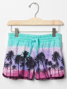 Print varsity shorts