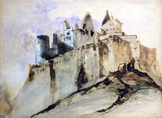 Victor Hugo, The Chateau of Vianden, 1871. Pen and ink and wash on paper. Maison de Victor Hugo, Paris.