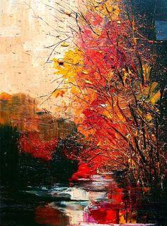 """Saatchi Online Artist: Justyna Kopania; Oil, 2009, Painting """"Illumination... - River..."""""""