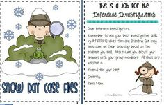 Inferencing...Snowy Day Investigation! - Re-pinned by @PediaStaff – Please Visit http://ht.ly/63sNt for all our pediatric therapy pins