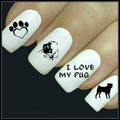 Pug - Pug Dog Cute Nail Art Decals