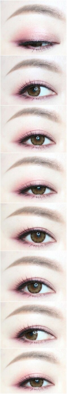 常见的红色眼影画法,很日常