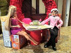 Elf (Skippy) and Barbie on a date! I will have to dig out one of my old barbies out for this one!