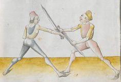 Lecküchner, Hans: Kunst des Messerfechtens Nordbayern, 1482 Cgm 582 Folio 115