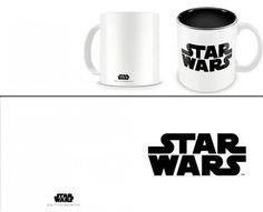 Taza logo negro. Star Wars  Estupenda esta taza con la imagen del logo en color negro, fabricada en cerámica, 100% oficial y licenciada perteneciente a la exitosa saga de Star Wars. Ideal para regalar.