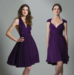 Not on the Highstreet multiway dress Purple or navy £89 (+£10 for bandeau)