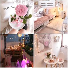 This 36 square meter apartment is located in the German city of Bonn. It stands out for its romantic and feminine decoration Small Apartment Design, Small Apartments, Long Room, Light Pink Flowers, Small Bouquet, Flat Ideas, Romantic Homes, Comfortable Sofa, White Furniture
