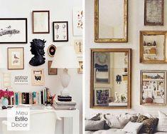 Decoração de sala aconchegante em 3 camadas • MeuEstiloDecor Decorating Tips, Gallery Wall, Layout, Home Decor, Snuggles, Bedroom Decor, Architecture, Ideas, Interiors