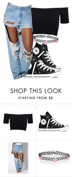 """""""90's inspired """" by eazybreezy305 ❤ liked on Polyvore featuring American Apparel, Converse, Levi's, Monsoon, Inspired, DOPE and 90"""