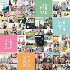 Free Photo Collage Templates from Simple as That - simple as that   #projectlife #bloglove