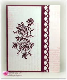 Razzleberry Roses by Cricketeer - Cards and Paper Crafts at Splitcoaststampers