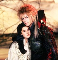 1986 - Jennifer Connelly as Sarah and David Bowie as Jareth in Labyrinth.