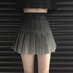 itGirl Shop GRADIENT DOTS BLACK WHITE PLEATED SCHOOL SKIRT Aesthetic Apparel, Tumblr Clothes, Soft Grunge, Pastel goth, Harajuku fashion. Korean and Japan Style looks