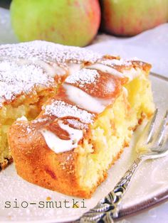 Apple Cake Recipes, Baking Recipes, Cookie Recipes, Dessert Recipes, Polish Desserts, Sandwich Cake, Sweets Cake, Specialty Foods, Homemade Cakes