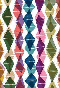 Collage and Digital Diamonds Pattern - Sarah Bagshaw
