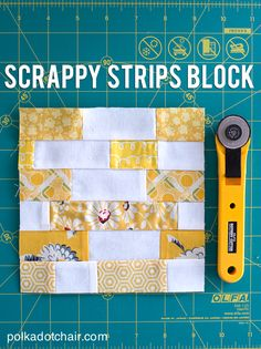 A free quilting tutorial for a scrappy strip quilt block, 6 inch, how to make a strips quilt, quilt block ideas, scrappy quilt block tutorial Jellyroll Quilts, Scrappy Quilts, Easy Quilts, Patchwork Quilting, Star Quilts, Mini Quilts, Quilting Tips, Quilting Tutorials, Quilting Designs