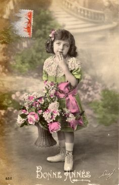 French antique postcards little girl 138 by Fairymelodycollect on Etsy antique france french girl collage photograph postcard vintage brocante letter photo postcard calligraphy manuscript art