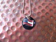 All American Mama hand stamped flag necklace for by MamaMedals, $12.00