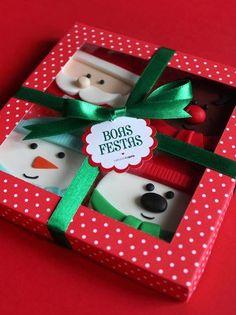 Caixa de bolachas personalizada Customized cookie box (bolachas feitas por Sabores da Gula cookies made by Sabores da Gula saboresdagula.blogspot.com/ )