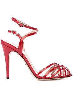 Shop online red Gucci multiple straps sandals as well as new season, new arrivals daily. Phenomenal luxury selection, get it now with quick Global Shipping or Click & Collect orders. Red Bridal Shoes, Wedding Shoes, Womens High Heels, Womens Flats, Strappy Sandals, Women Sandals, Shoes Women, Leather Sandals, Ankle Straps