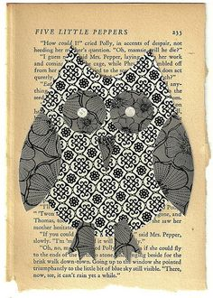 'Owl on a Book' by PaperPetite